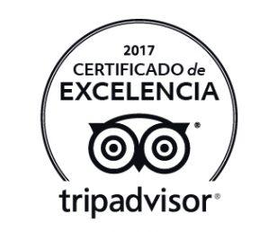 Certificado Excelencia Tripadvisor 2017